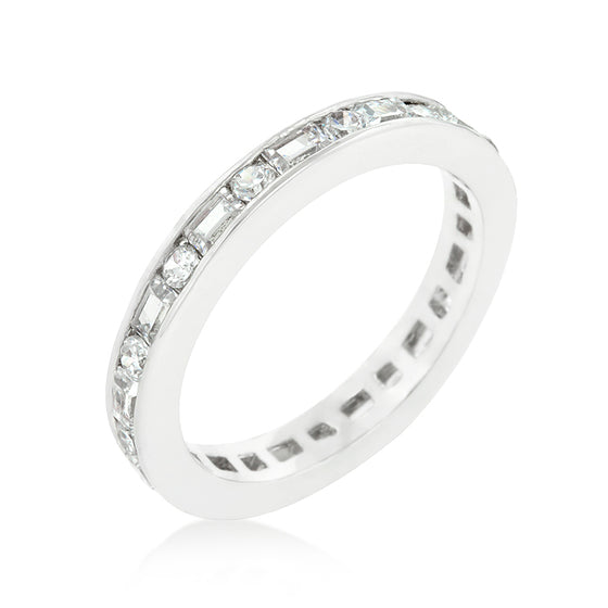 Alternating Cubic Zirconia Eternity Band