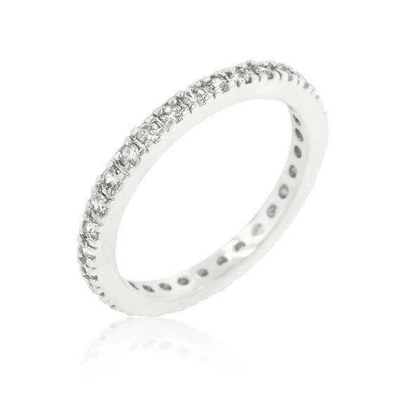 Delicate Cubic Zirconia Eternity Band