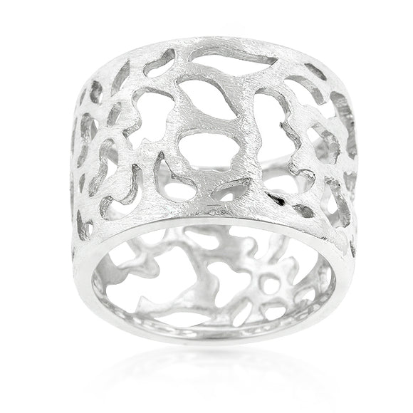 Filigree Matte Rhodium Ring