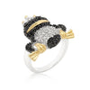 Cubic Zirconia Frog Prince Ring