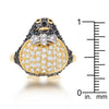 Jet Black Cubic Zirconia Penguin Fashion Ring