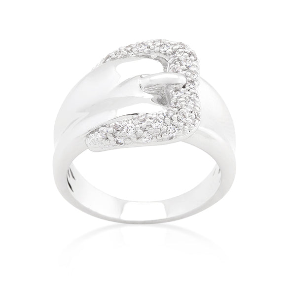 Simple Cubic Zirconia Belt Ring