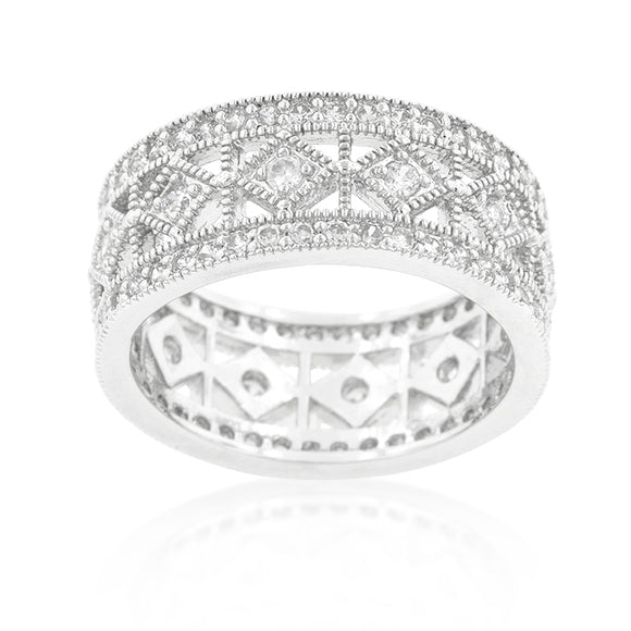 Simple Classic Cubic Zirconia Band