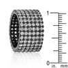 Hematite Wide Pave Cubic Zirconia Ring