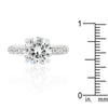 Micro-pave Cubic Zirconia Engagement Ring