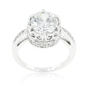Royal Crest Filigree Cubic Zirconia Ring