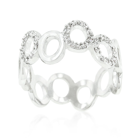 Staggering Hoop Eternity Band