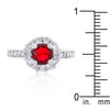 Ruby Red Halo Engagement Ring
