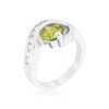 Olive Cubic Zirconia Twist Ring