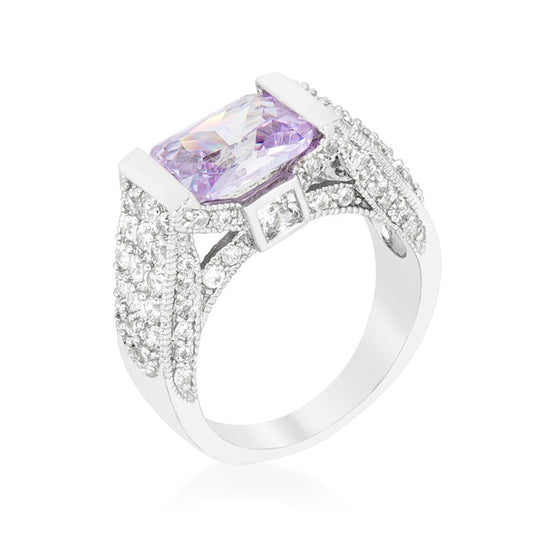 Purple Oval Cut Cocktail Ring
