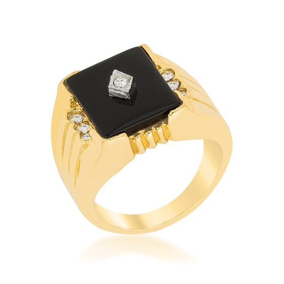 Black Onyx Men's Ring