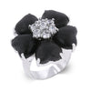 Black Heart Clover Ring