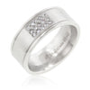 Stainless Steel Pave 15-Stone Men's Ring