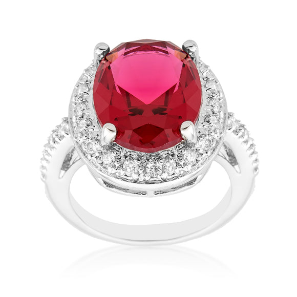 Ruby Red Decadence Cocktail Ring