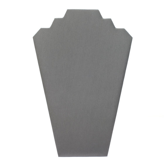 Gray Leatherette Necklace Stand