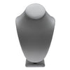 Gray Leatherette Neck Bust