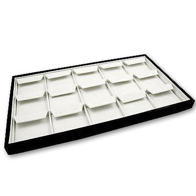 Black Leatherette Earring Tray