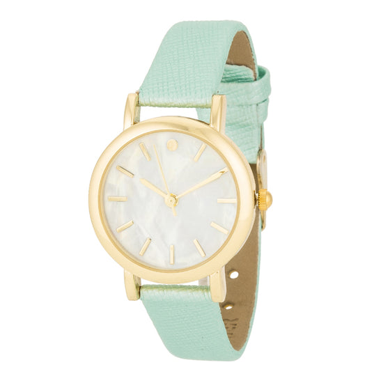 Mint Leather Watch
