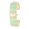 Gold Cuff Watch With Crystals - Mint