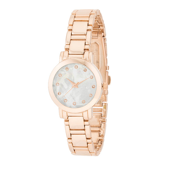 Rose Gold Watch With Crystals