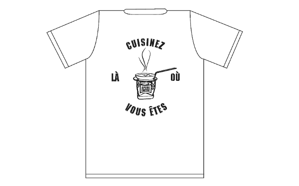 T-Shirt Apéro Cheese - Blanc
