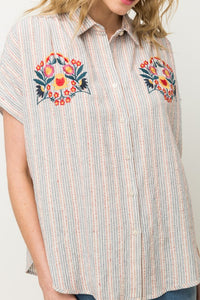 Hazel Embroidered Top