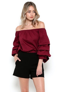 Mia Bubble Sleeve Blouse