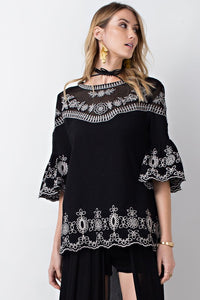 Feliz Embroidered Blouse