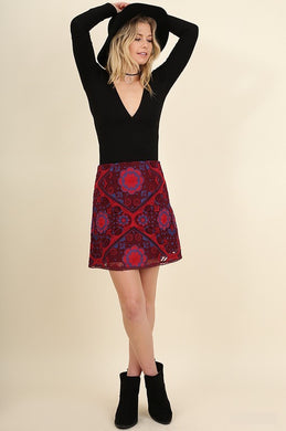 Eva Embroidered Medallion Skirt
