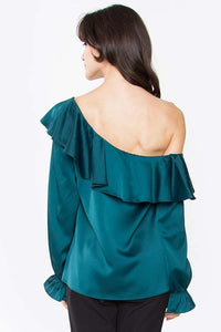 Gemma One Shoulder Blouse