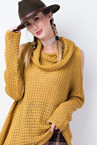 Annie Cold Shoulder Sweater