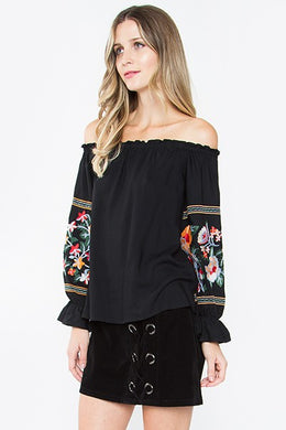 Flor Embroidered Blouse