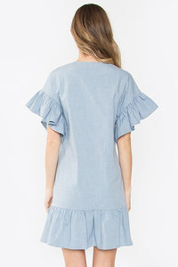 Luz Flutter Sleeve Dress