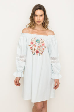 Cora Embroidered Dress