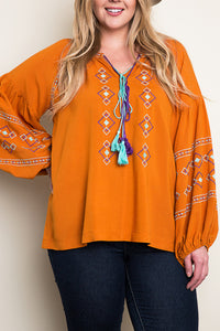 Viva Embroidered Blouse