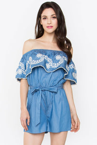 Azul Denim Romper