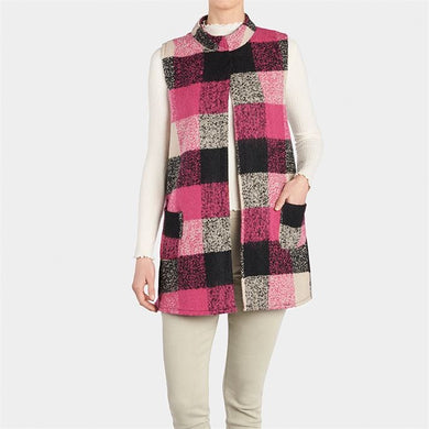 Rose Plaid Vest