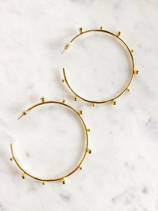 Marie Gold Hoops