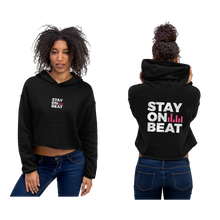 Stay On Beat! - Womens Crop Hoodie