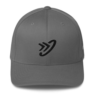 JM Logo (Black) - Structured Flex Twill Cap