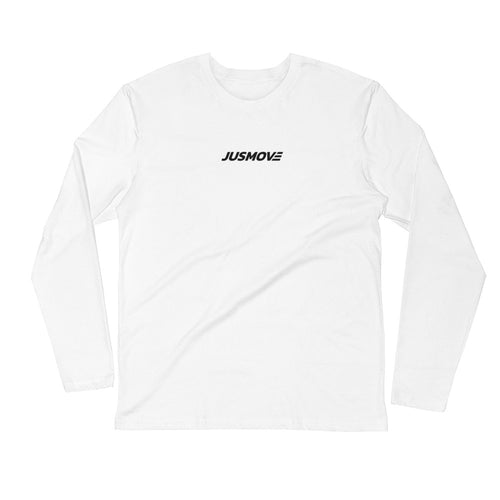 JM Front & Icon Back - Long Sleeve Fitted Crew