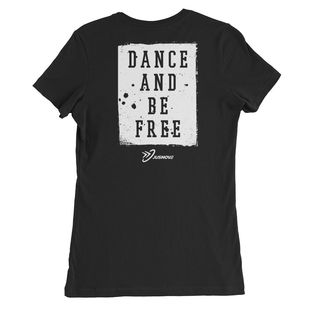 Be Free (BACK)- Women's Slim Fit T-Shirt