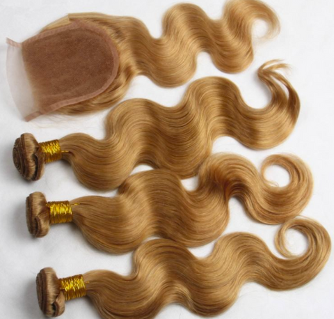 Honey Blonde Peruvian Body Wave