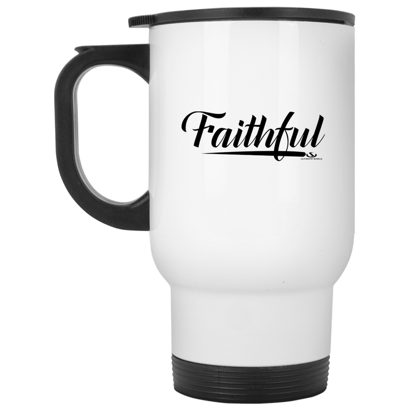 FAITHFUL White Travel Mug
