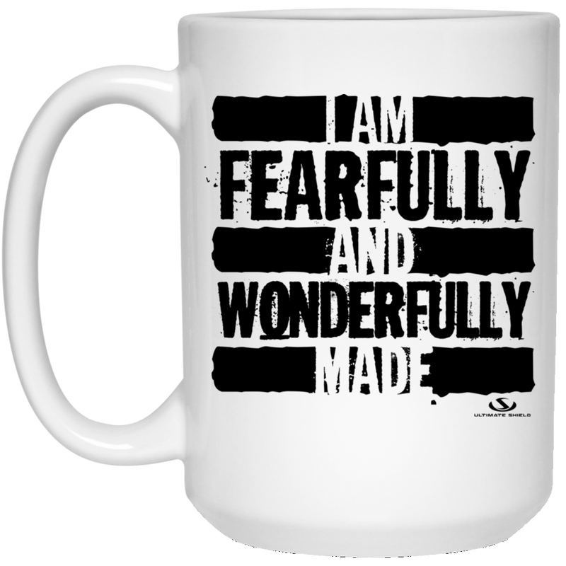 I AM FEARFULLY AND WONDERFULLY MADE 15 oz. White Mug