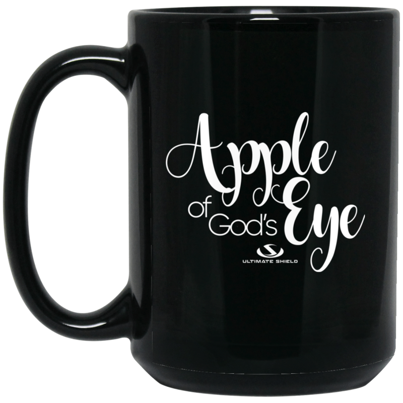 APPLE OF GOD'S EYE 15 oz. Black Mug
