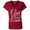 GOD IS LOVE Ladies' Jersey V-Neck T-Shirt