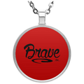 BRAVE Circle Necklace