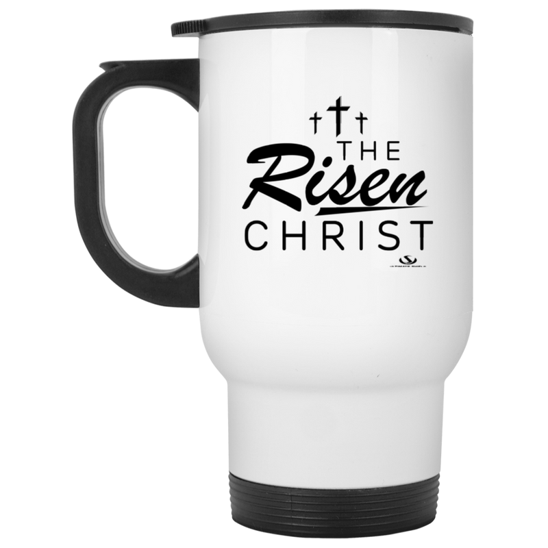 THE RISEN CHRIST White Travel Mug