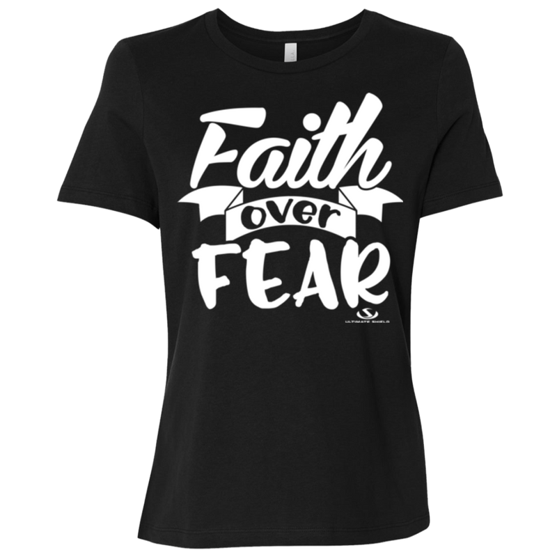 FAITH OVER FEAR Ladies' Relaxed Jersey Short-Sleeve T-Shirt